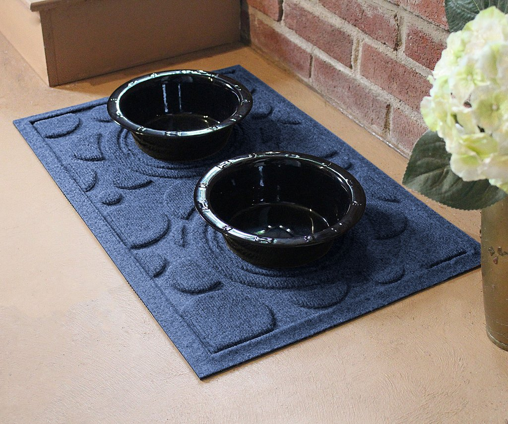 walmart taupe com bowl pet mat anti skid basics microfiber mats kitchen ip