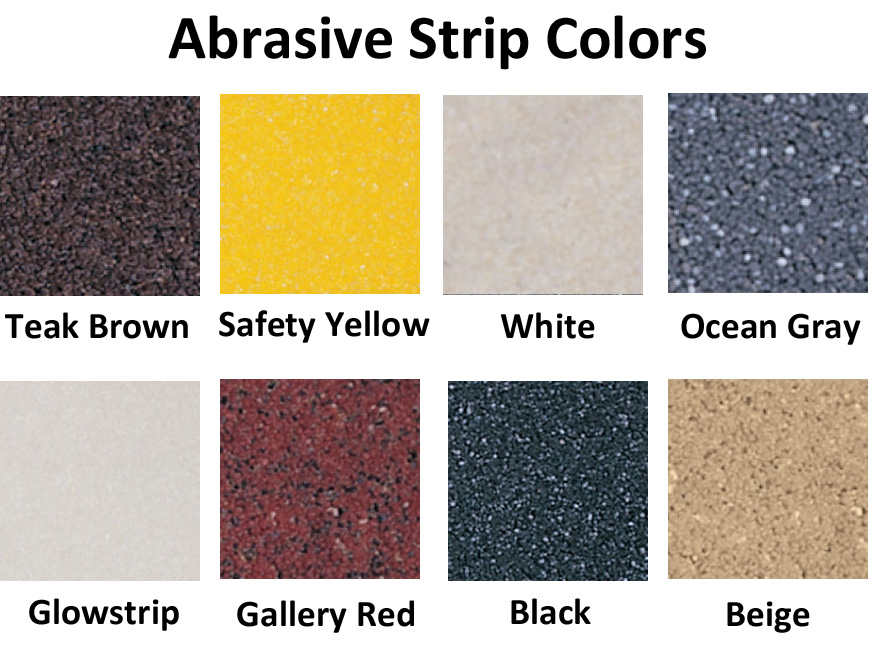 Roppe Light Duty Ribbed Vinyl Stair Tread Abrasive Strips