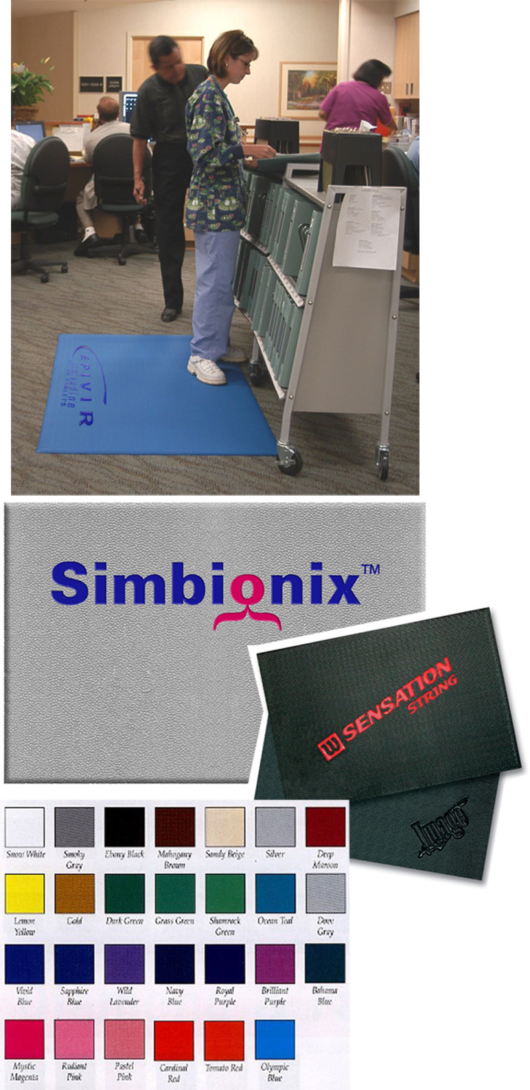 Comfort King Anti Fatigue Mat Company Logo Mats
