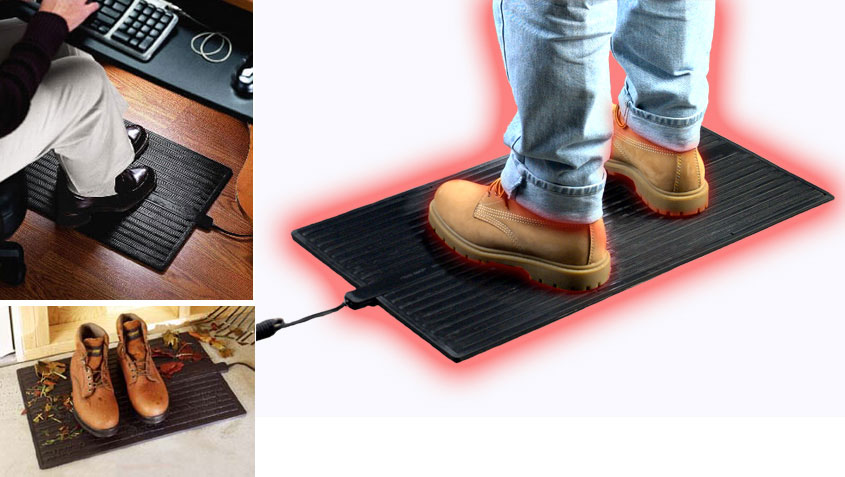 Foot Warmer Mat Heated Rubber Floor Amp Office Mats