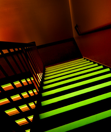 11 Quot Deep Metal Stair Treads With Colored Abrasive Strips