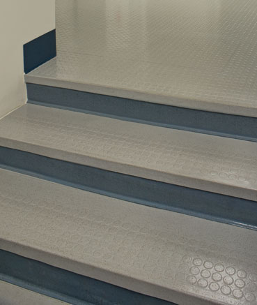 Raised Circle Rubber Stair Treads Without Riser