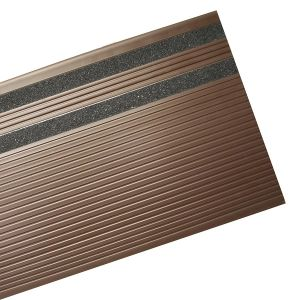 Heavy Duty Ribbed Vinyl Stair Tread Colored Abrasive Strips