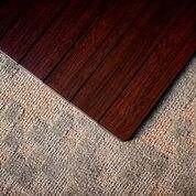 Bamboo Chair Mat Dark Cherry