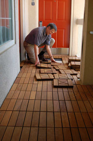 Installing Interlocking Deck Tiles