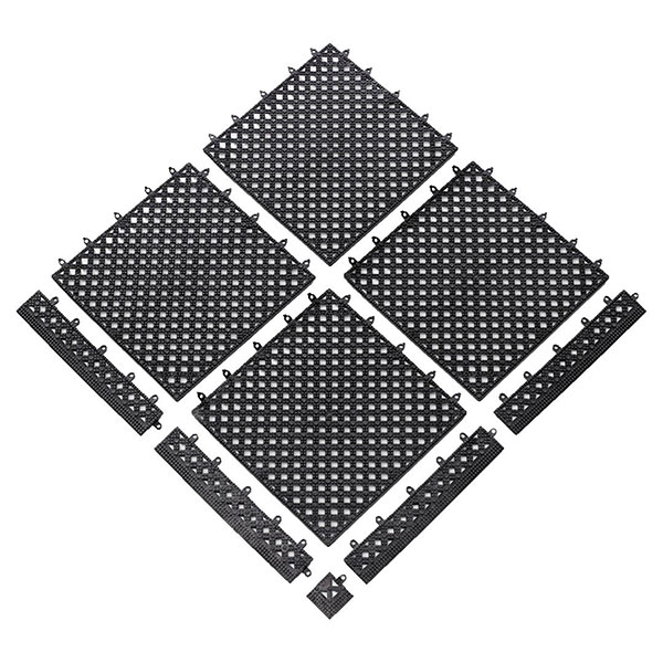 View: Interlocking Tiles and Drainage Mats