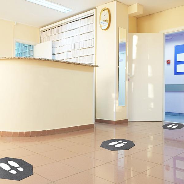 View: Social Distancing Floor Mats