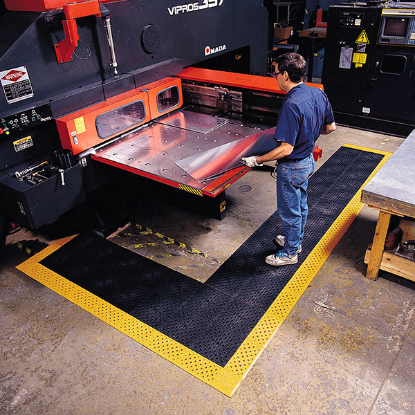Cushion-Lok Heavy Duty Interlocking Safety Mat by Commercial Mats and Rubber.com