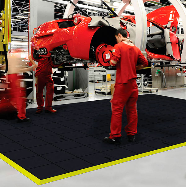 Cushion Ease Solid Interlocking Rubber Mats