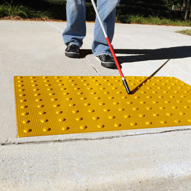 Truncated Dome Top ADA Yellow Mats Recessed