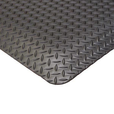 Conductive Diamond Plate Anti Fatigue Mat by Commercial Mats and Rubber.com
