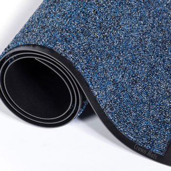 Crown Cross Over Scraper Mat Blue