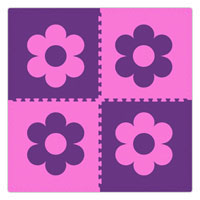 Reversible Star and Flower Soft Tiles