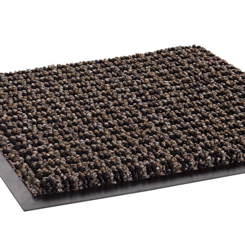 Oxford Elite Mat with Anti-Microbial Backing Black/Brown