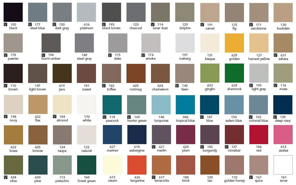 Roppe Diamond Rubber Stair Tread Color Chart