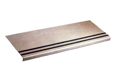 Heavy Duty Smooth Stair Tread With Abrasive Strip