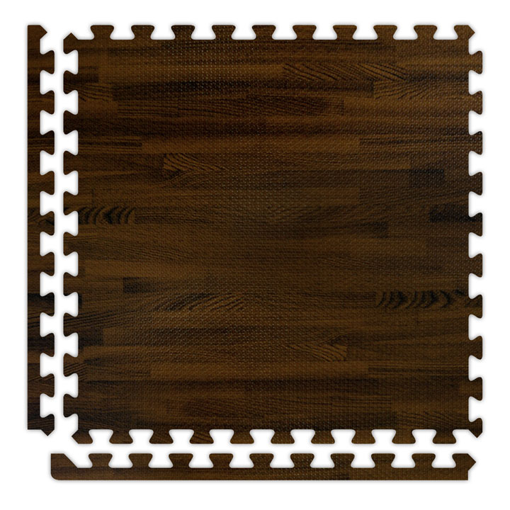 Faux Wood Printed Soft Wood Interlocking Foam Tiles