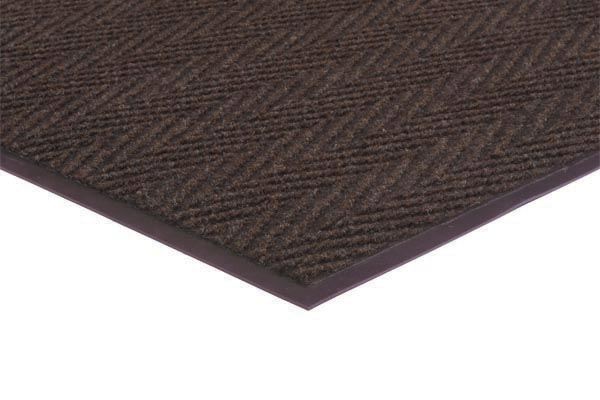 Chevron Rib Commercial Mat Color: Brown Commercial Mats and Rubber