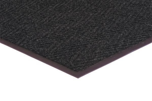 Chevron Rib Commercial Mat Color Brown Commercial Mats and Rubber