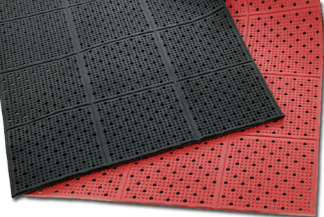 Industrial Rubber Matting Roll Bar Floor Mats Drainage