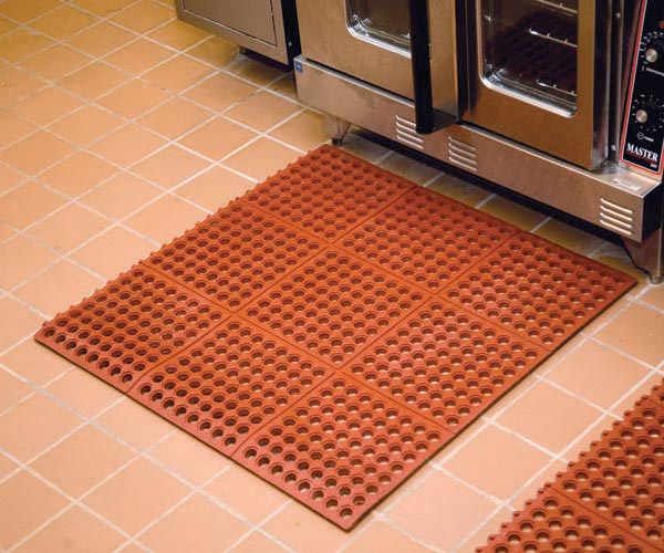 Performa Interlocking Kitchen Mat | Perforated Rubber Matting