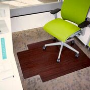 Bamboo Chair Mat With Lip