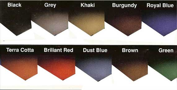 Mitchell Rubber Diamond Mega Plate Color Chart