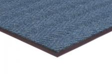 Chevron Rib Commercial Mat Color Blue Commercial Mats and Rubber