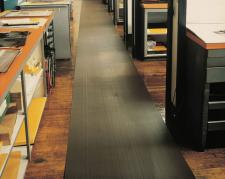 "Corrugated Vinyl Runner 1/4"" Thick by Commercial Mats and Rubber.com"