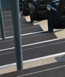 Roppe Deep Black Metal Stair Treads Vinyl Rubber Stair