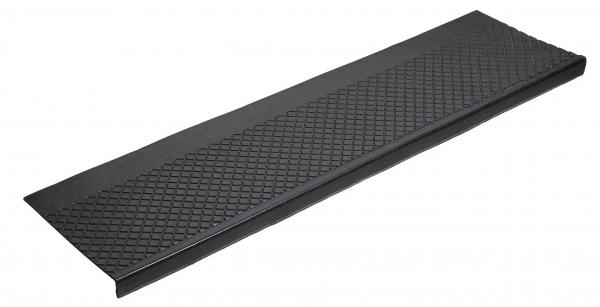 Roppe Diamond Rubber Stair Tread Black