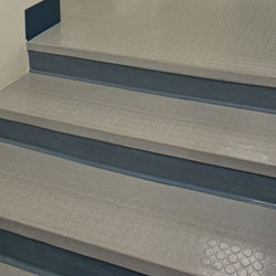 Vantage Profile Raised Circle Rubber Stair Treads without Riser
